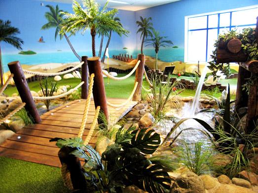 Installation d'un minigolf dans un hôtel / restaurant